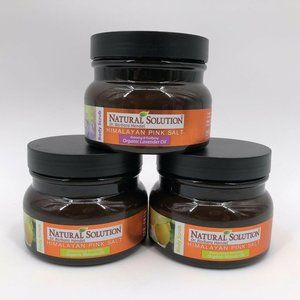 3 Natural Solution Himalayan Pink Salt Body Scrubs